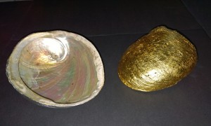 golf leaf shell gilding