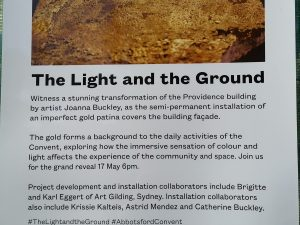Art Gilding Academy, Joanna Buckley and the Abbotsford Convent