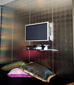 Faux silver Feature wall Residential Projects GalleryArt Gilding can create amazing centrepiece walls and highlight architectural pieces with gold, silver, aluminium and copper leaf. Both classic and chic modern finishes can be undertaken. From penthouses to chic modern apartments, mansions, houses and yachts, Art Gilding has done it all. Browse through some of our work to see the stunning effect which pure metal leaf finishes can have for your home.