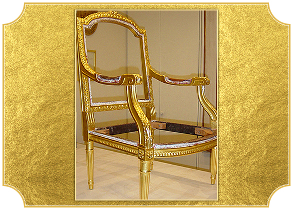 Superieur Water Gilded Chair Frame