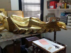 Restoration of a 23 Carat Gold Leafed Buddha